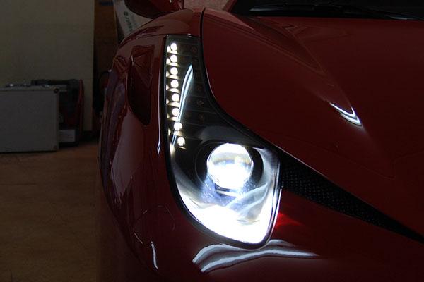 フェラーリ・458 イタリア HIDバルブ 6000K