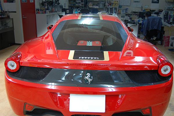 フェラーリ 458 ラッピング加工