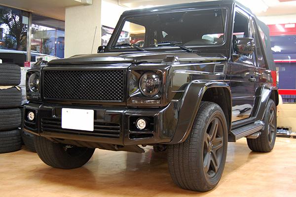 Gクラス W463 ゲレンデ 社外ハロゲンヘッドライト(Black)